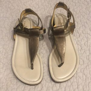 Bronze Cole Haan strappy sandals